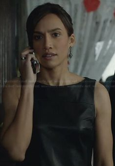 Tess's fringed leather dress on Beauty and the Beast. Outfit Details: https://wornontv.net/27239/ #BATB