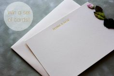 Metallic Thank You Cards (+ Win!)