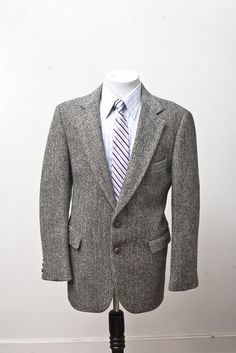 Vintage Harris Tweed wool sport coat.