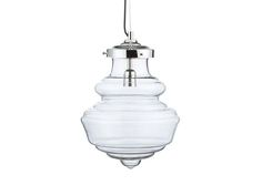 Crate and Barrel Glass Pendant Light | Remodelista