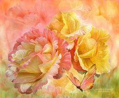 Rose Mixed Media - Rose - Colors Of Spring by Carol Cavalaris