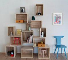 L' étagère cube - praticité et style contemporain