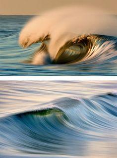 Waves by David Orias -long exposure photos of waves. Water Waves, Ocean Waves, Sea And Ocean, Ocean Beach, Beautiful Ocean, Beautiful World, All Nature, Grid Design, Belleza Natural