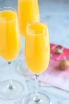 Mimosa Cocktail Recipe from www.inspiredtaste.net #cocktail