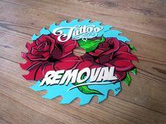 Kustom by STD3... hand painted sawblade, tattoo remover..