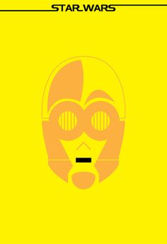 Minimalist posters of characters from the iconic film saga, Star Wars. /// by Ryan M. Russell /// C-3PO