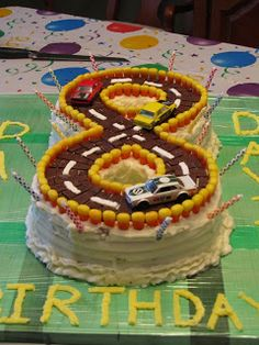 8th birthday...race track cake