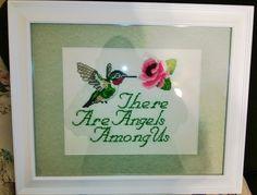 Hummingbird cross stitch made for my mom