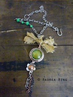 Andrea Ring made this adorable earthy necklace using ICE Resin.