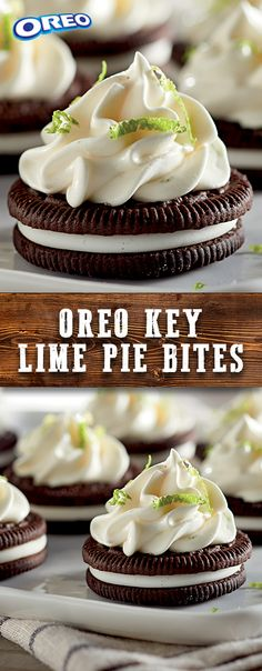 20 min to make, serves 28 -- INGREDIENTS -- PRODUCE • 1/2 cup Key lime, juice • 1 tbsp Lime BAKING & SPICES • 4 cups Topping, frozen whipped SNACKS • 56 OREO Cookies DAIRY • 1 can Condensed milk, sweetened     #sweepstakes. Promo ends 8/15/17.