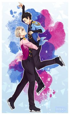 """Stay Close to Me - Yuri On Ice Get this art in goods on my Redbubble! Just click the links below Option #1  / / Option #2 """