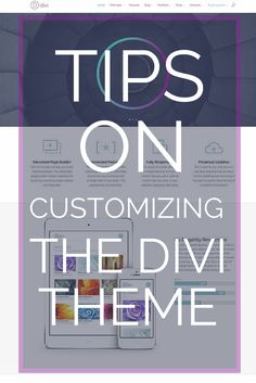 Tips on customizing the Divi Theme for WordPress.  Divi is crated by Elegant themes and extremely flexible and powerful.  See this blog post by Eileen Lonergan to learn how to increase the font size in Divi, adjust the height of the header (logo size), increase the size of the phone number & email address, and how to change the size of the text in the navigation menu.