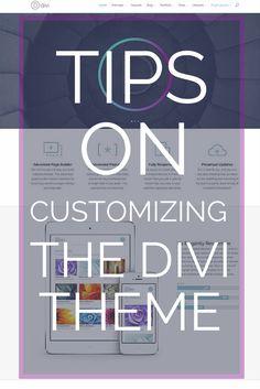 TIPS on using the divi theme | Eileen Lonergan | WordPress
