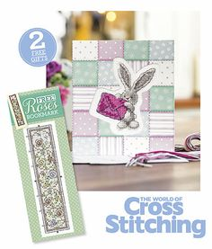 FREE! Stitch a cute Bebunni card plus a Roses bookmark. You'll love to make sweet Bebunni - everything is included in our freebie kit, plus we've a stunning floral bookmark, lovely to give as a gift or keep for yourself! Only with issue 227 print edition of The World of Cross Stitching magazine, out now