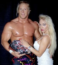 Steve Austin (Before he was Stone Cold) and Jeannie Clark aka Lady Blossom