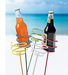Beverage Holders - Set of 5- perfect for the beach!