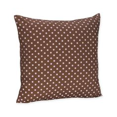 Sweet JoJo Designs Pink and Brown Mini Polka Dot Throw Pillow | Overstock.com Shopping - The Best Deals on Throw Pillows