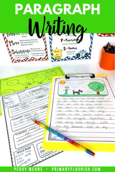 Paragraph Writing in the Writing Process Writing Lessons, Writing Process, Writing Resources, Writing Activities, Teacher Resources, Teaching Paragraphs, Paragraph Writing, Teaching Strategies, Teaching Writing