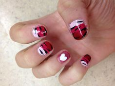 my valentines day nails <3