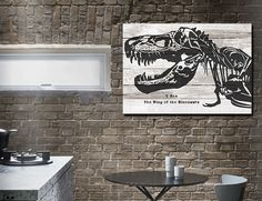 "Dinosaur T rex 4 canvas art 24*36"" ( or 6 panels in 1)  Large Modern Art for Kids Room/wall decor/ sitting room idea"
