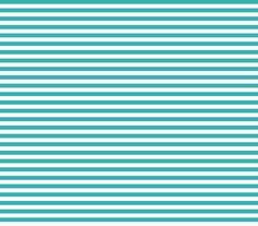 stripes teal fabric by misstiina on Spoonflower - custom fabric