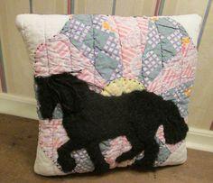 Charming Keepsake Applique Horse PILLOW made by AuntNannieCrafts, $21.99
