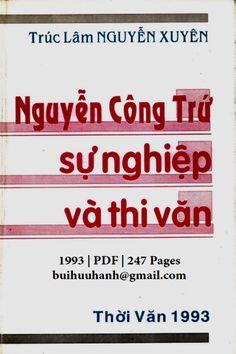 Nguyễn Công Trứ Sự Nghiệp Và Thi Văn (NXB Thời Văn 1993) - Nguyễn Xuyên, 247 Trang   Sách Việt Nam