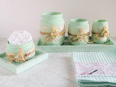 set di vasetti per il bagno