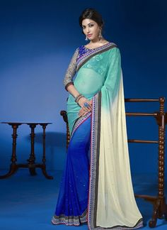 EXOTIC SELLERS!!  Amazing Blue Patch Border Work Georgette Designer Saree  Product Order link : http://www.usarees.in/amazing-blue-patch-border-work-georgette-designer-saree-2932  ITEM CODE: 2932 Color :Blue Fabric :Faux Georgette Work :Embroidered Patch Border Occasion :Festival Reception Price : Rs2,569  Call or Whatsapp : +919377152141 SHOP NOW!!