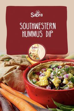 Another way to jazz up the perfection already provided by Sabra with some great Southwestern flavors. Hummus Dip, Chili Powder, Cilantro, Jazz, Dips, Grilling, Vegetables, Cooking, Recipes