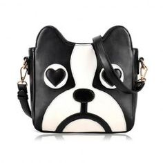 $10.02 Sweet Women's Crossbody Bag With Puppy Pattern and PU Leather Design