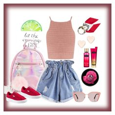 """""""Sporty"""" by zemnaya ❤ liked on Polyvore featuring SHE MADE ME, WithChic, Victoria's Secret, The Body Shop, Ted Baker, Hermès, Prada and sporty"""