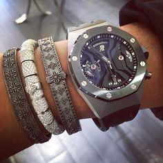 "That ""concept"" and passion of watches & jewelry #AP #tourbillon #GMT #audemarspiguet #shamballa #jewelry #luxury #vault #sobe #miami #diamonds by sigi2s"