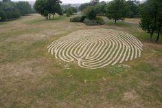 """Fingermaze"" - land art by Chris Drury"
