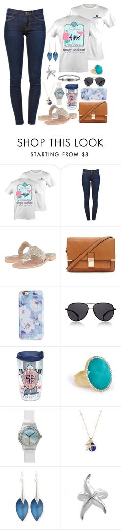 """""""Simply Southern"""" by panda-matowi0715 ❤ liked on Polyvore featuring Frame Denim, Jack Rogers, Forever 21, Isaac Mizrahi, The Row, Tervis, Towne & Reese, ki-ele, Alexis Bittar and Bling Jewelry"""