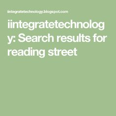 iintegratetechnology: Search results for reading street