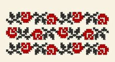 motiv in cruce floare Celtic Cross Stitch, Cross Stitch Rose, Cross Stitch Borders, Cross Stitch Flowers, Cross Stitching, Folk Embroidery, Embroidery Patterns, Beading Patterns, Cross Stitch Patterns