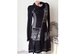 Empirekleider - ♥ 36 PATCHWORKKLEID Strickkleid Stiefelkleid - ein Designerstück von modebina bei DaWanda