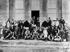 The staff of Caffrey's Brewery, pictured on the opening of new premises at Anderstown, south-west Belfast (now the Glen Rd.), in 1905. #Irish History