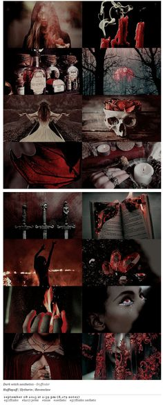 pvffskein: dark witch aesthetics | Gryffindor