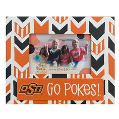 Glory Haus 'Collegiate Arrow' Frame ($24) ❤ liked on Polyvore featuring home, home decor, frames, oklahoma state, glory haus and arrow home decor