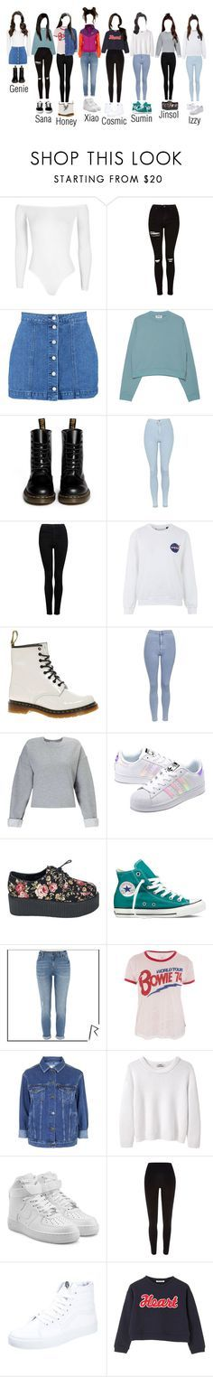 """The Dolls on Weekly Idol! (WBA Era)"" by thedolls-official ❤ liked on Polyvore featuring Boohoo, Topshop, Acne Studios, Dr. Martens, Forever New, Miss Selfridge, adidas Originals, Converse, River Island and Trunk LTD"