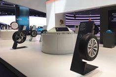 IAA 2017 Hankook Tire on Behance Display Design, Wall Design, Auto Parts Shop, Promotional Stands, Exhibition Booth Design, Exhibit Design, Showroom Interior Design, Tyre Shop, Contract Furniture