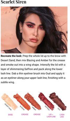 Desert dusk Huda pallets looks