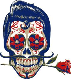Find images and videos about art, rose and skull on We Heart It - the app to get lost in what you love. Mexican Skull Tattoos, Sugar Skull Tattoos, Mexican Skulls, Mexican Art, Sugar Skull Makeup, Sugar Skull Art, Sugar Skulls, Los Muertos Tattoo, Tattoo Caveira