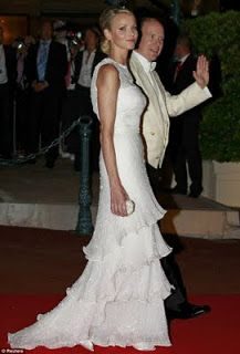 Evening reception: Princess Charlene and Prince Albert