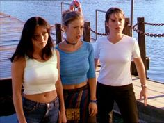 Prue, Phoebe & Piper at the lake where their mother was killed - The Charmed Ones. Serie Charmed, Charmed Tv Show, Shannen Doherty Charmed, Alyssa Milano Charmed, Alyssa Milano Hot, Charmed Sisters, Emma Watson Sexiest, Tv Series, Movies