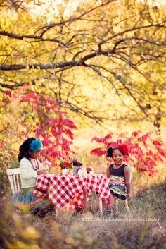 Sweet sisters tea party picnic