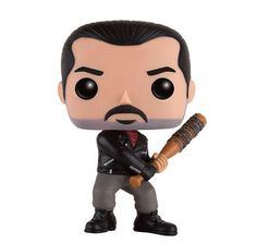 From The Walking Dead, Negan, as a stylized POP vinyl from Funko. Stylized collectible stands 3 ¾ inches tall, perfect for any The Walking Dead fan. Collect and display all The Walking Dead POP Vinyls. Collect and display all The Walking Dead POP Vinyls. Funko Pop, Walking Dead Pop, Vinyl Figures, Action Figures, Action Toys, Pop Goes The Weasel, Pop Television, Marvel, Rick Grimes