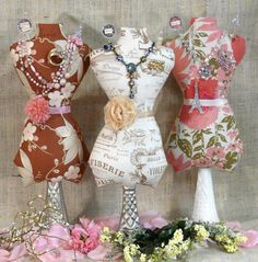Large Mannequin Dress Form PDF Pattern - jewelry holder Pincushion Pin Keep email primitive pinkeep cushion. $8.49, via Etsy.